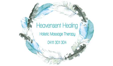 Heavensent Healing Business Card