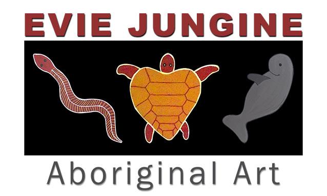 Kimberley Web Design logo design for Evie Jungine Aboriginal Art