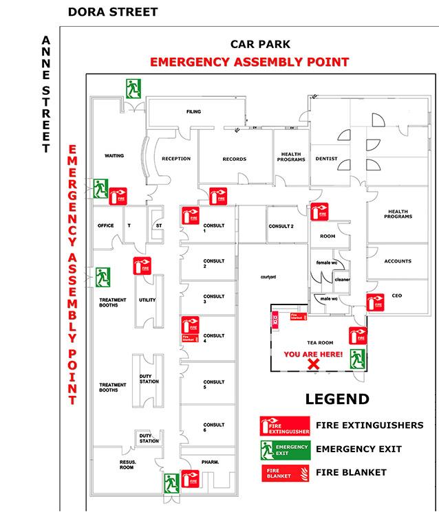 BRAMS Emergency Fire Plan
