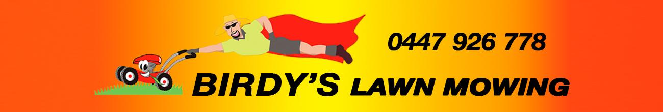 Birdy's Lawnmowing Website Banner