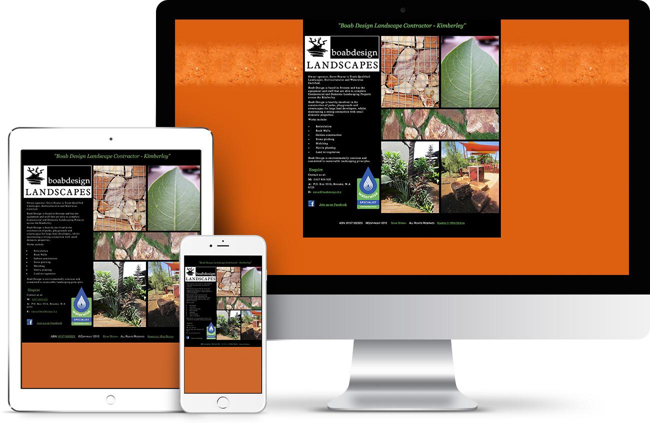 Boab Design Landscapes Website