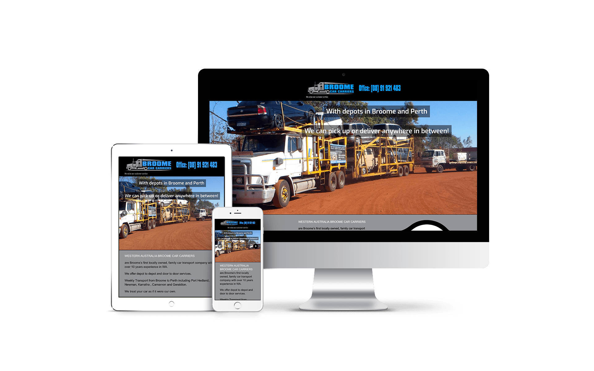 Broome Car Carriers Website