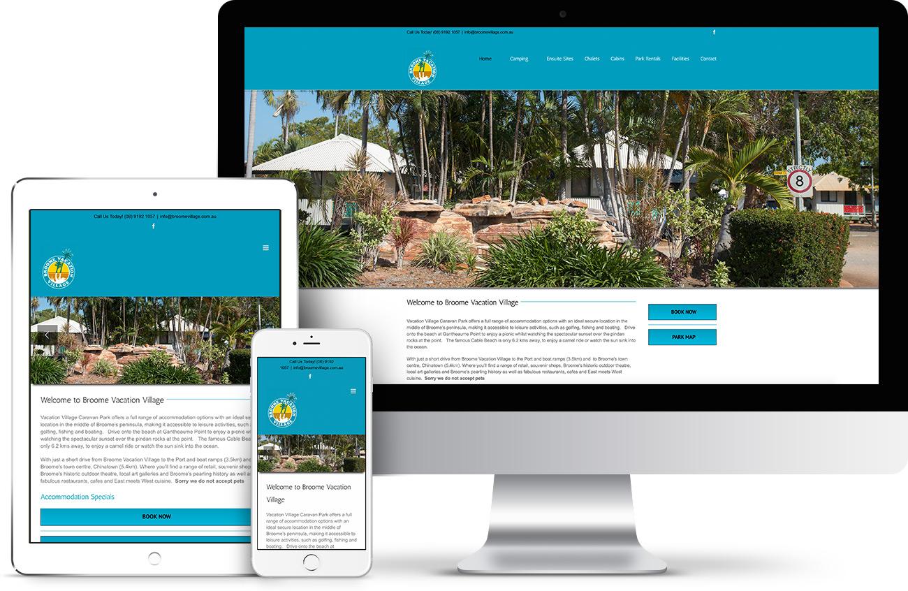 Broome Vacation Village Website