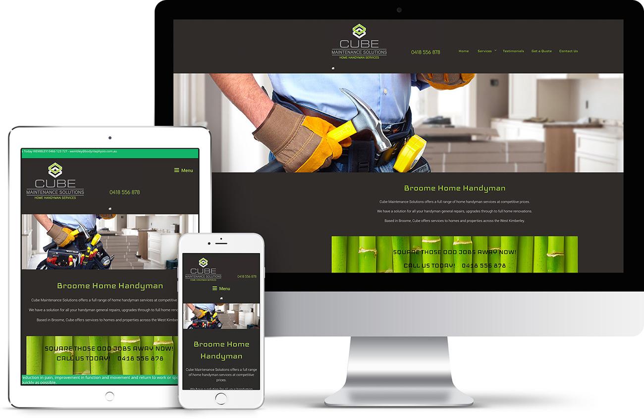 Cube Maintenance Website