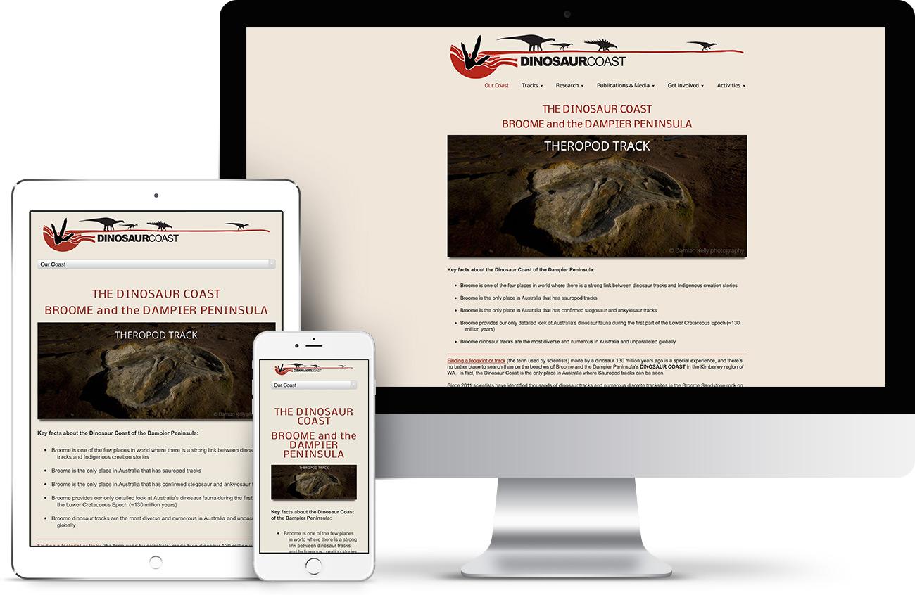 Dinosaur Coast Website