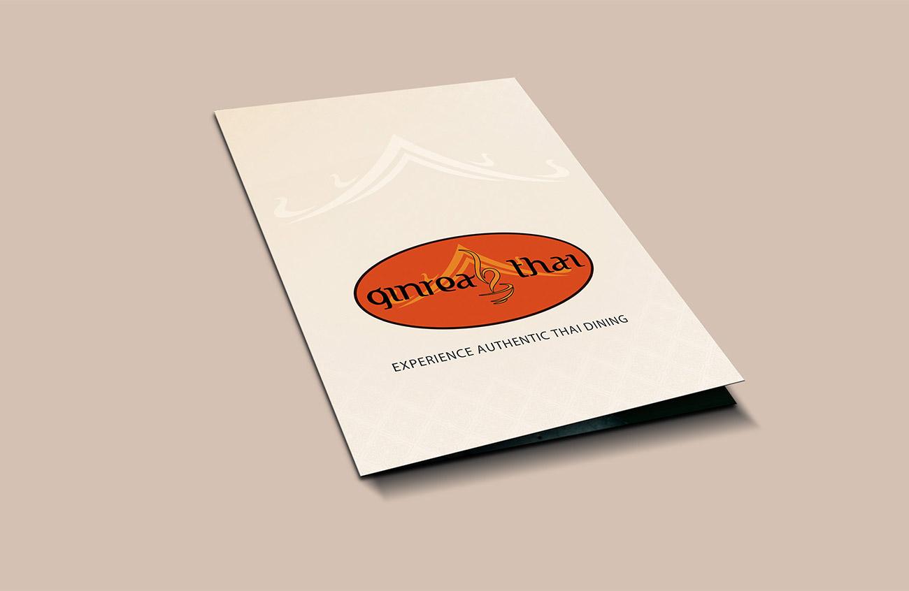 Ginreab Thai InHouse Menu front cover