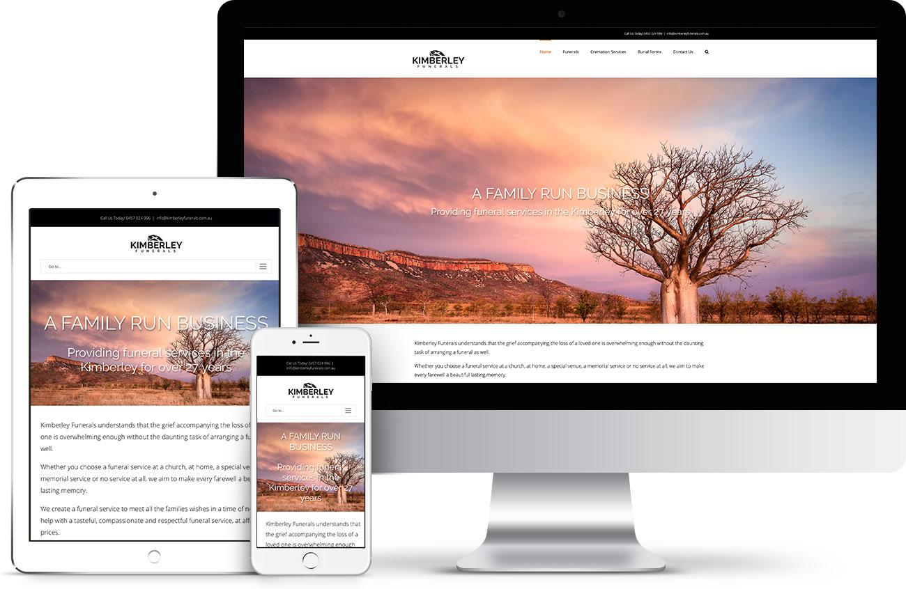 Kimberley Funerals Responsive Web Design