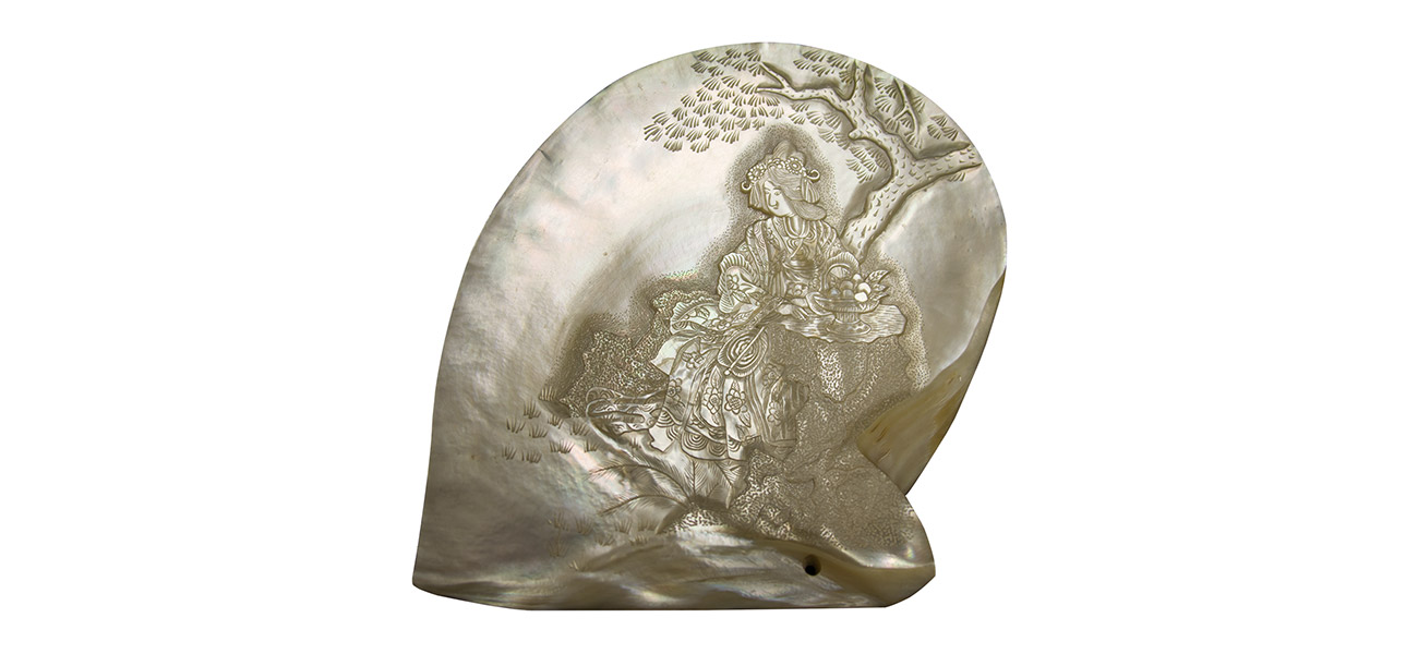 Carved Japanese Pearl Shell