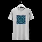 Blue dot painting vector art work on a tshirt