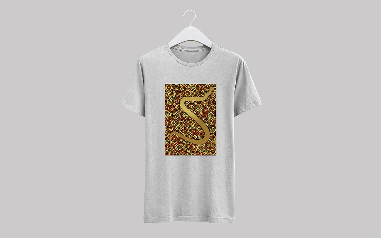 Aboriginal snake dot painting vector