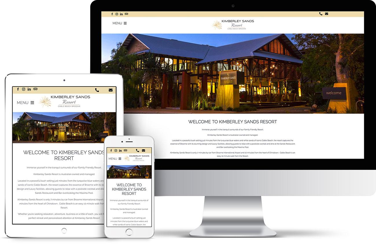 Kimberley Sands Resort Website
